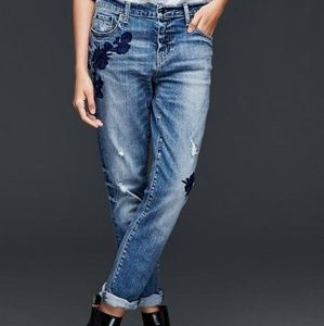 Gap Girlfriend Embroidered Jeans!